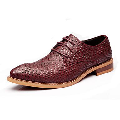 Masculino Oxfords Conforto Inovador Sapatos formais Couro Primavera Verão Outono Inverno Casual Festas & Noite Cadarço RasteiroPreto