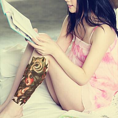 1 Tatouages Autocollants Séries de totem Non Toxique Motif Grande Taille Bas du Dos ImperméableHomme Femme Adolescent Tatouage Temporaire