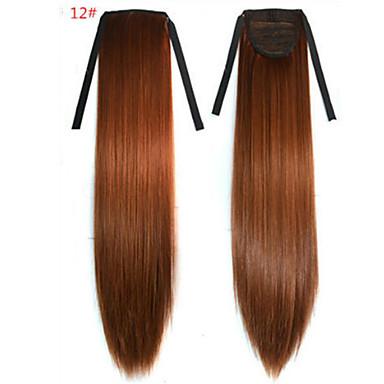 Gerade Synthetik Haarstück Haar-Verlängerung 18 Zoll # 12