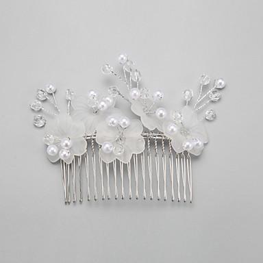 Kristalli Tekohelmi Metalliseos Hiusten kaltaiset 1 Häät Päähine