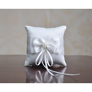 Ring Pillow Satin Asian Theme/Classic Theme/Fairytale Theme/Butterfly Theme With Ribbons/Bow/Faux Pearl