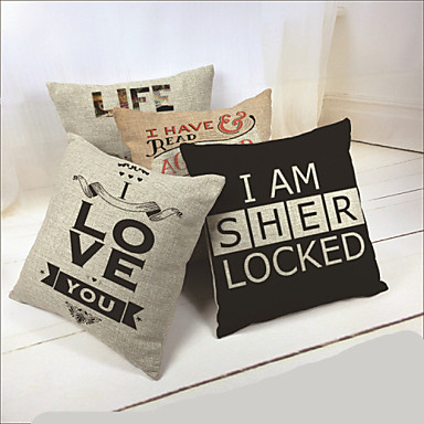 Printed Couples Pillow Cushion Cover