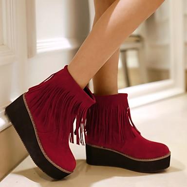 cm Chaussures Bottine 16 15 24 Botte Femme Demi Laine Hiver 10 Gland Noir 04101103 Plateau synthétique Rouge Automne Beige dHv0qP
