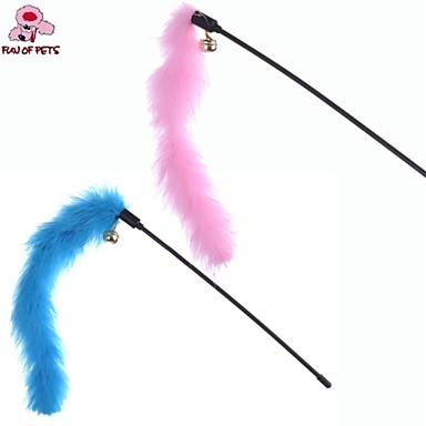 Коты / Собаки Игрушки для животных Дразнилки / Игрушка с перьями Расклешенные Синий / Розовый Пластик