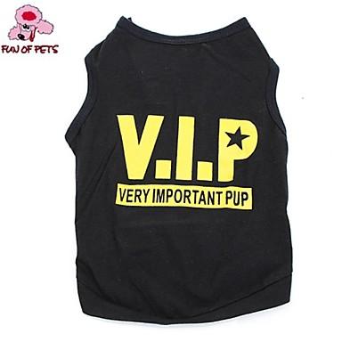 Chat Chien Tee-shirt Vêtements pour Chien Cosplay Mariage Lettre et chiffre Etoiles Noir Costume Pour les animaux domestiques