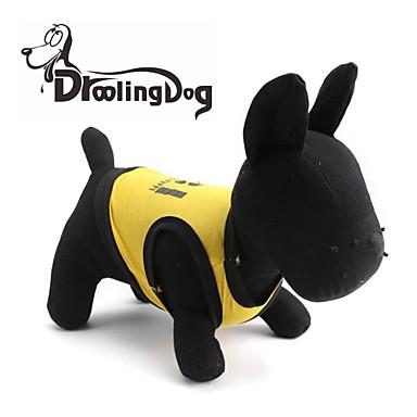 Γάτες / Σκυλιά Φανέλα Κίτρινο / Μαύρο Ρούχα για σκύλους Άνοιξη/Χειμώνας Γράμμα & Αριθμός / Αστυνομία/Στρατός