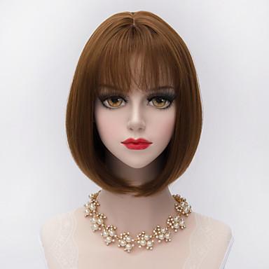 30 εκατοστά σύντομο ίσια μαλλιά βαρίδια με κτύπημα αέρα συνθετικό Harajuku περούκα lolita κυρία
