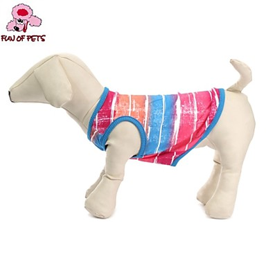 Cat Dog Shirt / T-Shirt Dog Clothes Casual/Daily Stripe Green Pink
