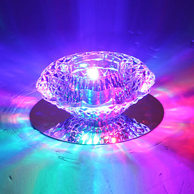 Modern/Contemporary Crystal LED Flush Mount Ambient Light For Bedroom Hallway Warm White Cold White RGB 110-120V 220-240V 110-120V