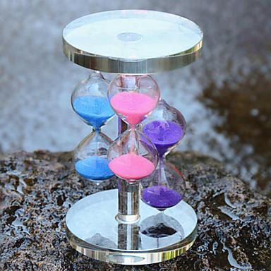 τρία χρώματα στολίδια χειροτεχνία κρύσταλλο κλεψύδρα σπίτι επίπλωση