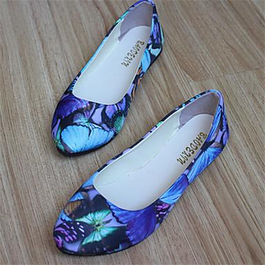 Черный / Синий / Красный - Женская обувь - На каждый день - Дерматин - На плоской подошве - С круглым носком - Обувь на плоской подошве
