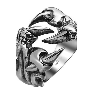 voordelige Herensieraden-Heren Ring обернуть кольцо Zilver Roestvast staal Titanium Staal Gepersonaliseerde Modieus Halloween Dagelijks Sieraden Draak