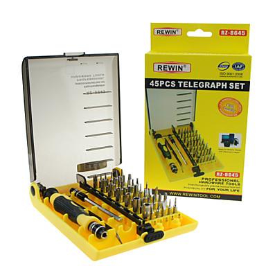 rewin® verktøy 45pcs profesjonell elektrisk skrutrekker sett