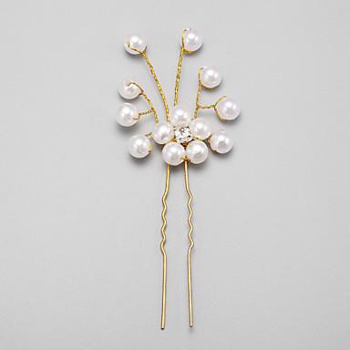 sztuczna perła ze stopu rhinestone szpilka do włosów szpilka elegancki styl