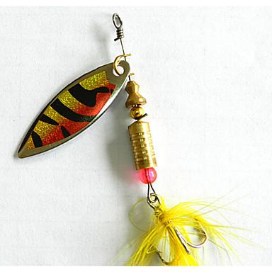 5pcs pcs Poissons nageur/Leurre dur Leurre forme de cuillère leurres de pêche Cuillères Métal Pêche en mer Pêche d'eau douce Pêche au