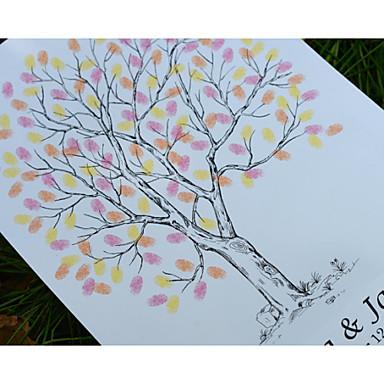 parmak izi düğün ağacı, düğün konuk defteri alternatif