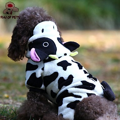 Cat / Dog Costume / Hoodie / Jumpsuit Dog Clothes Animal Black / White Polar Fleece Costume For Pets Men's / Women's Cosplay