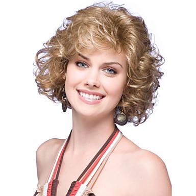 Sentetik Saç peruk Bukle Bonesiz Doğal Peruk Şort