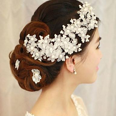 Imitert Perle blomster med 1 Bryllup / Spesiell Leilighet Hodeplagg