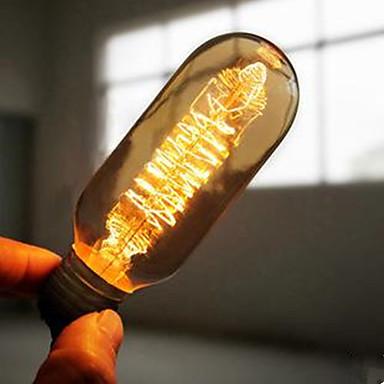 1pc 40W E27 E26/E27 T45 2300 K Glødende Vintage Edison lyspære AC 220V AC 220-240V V