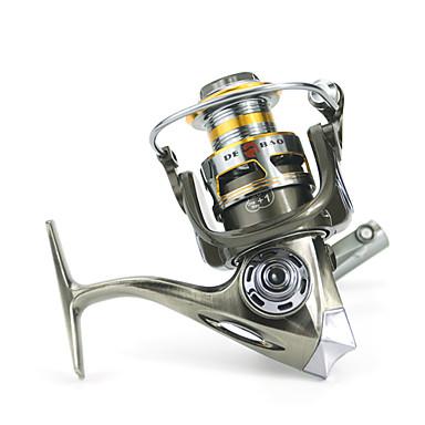Fiskesneller Spinne-hjul 5.2:1 Gear Forhold+12 Kulelager Hånd Orientering Byttbar Søfisking / Agn Kasting / Isfikeri - DM2000