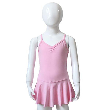 발레 드레스 여성용 아동용 성능 훈련 면 라이크라 1개 드레스