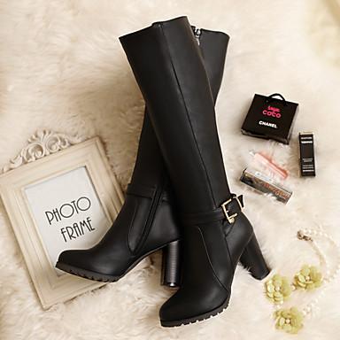 56 Noir Chaussures Hiver 40 Talon 64 Boucle Similicuir Bottier Bottes Femme Marron Automne 35 cm 04075338 d0Oqn4wwRS