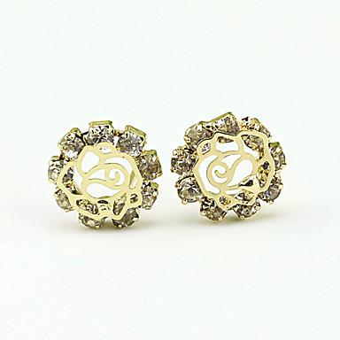 Sitne naušnice Viseće naušnice Moda Europska Umjetno drago kamenje Platinum Plated Legura Zlato Jewelry Za 1set