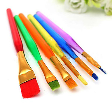 Bakeware tools Plastic DIY For Pie / Cake / For Pudding Painting Pen 6pcs