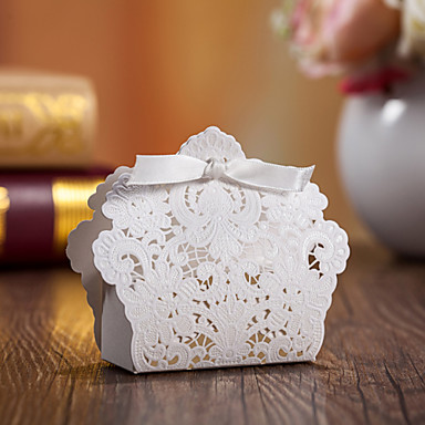 Kreisförmig Quadratisch Kreativ Kartonpapier Geschenke Halter mit Bänder Print Geschenkboxen