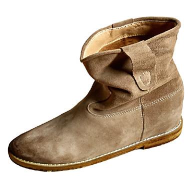 aa387ed37ee Zapatos de mujer - Tacón Plano - Botines   Punta Redonda - Botas - Oficina y