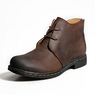 Saappaat Miesten kengät Nahka Musta / Ruskea Rento