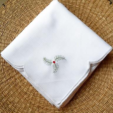 Bordado 100% algodão Quadrada Guardanapo Decorações de mesa 1 pcs