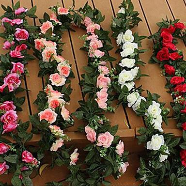 2 분기 플라스틱 장미 테이블  플라워 인공 꽃