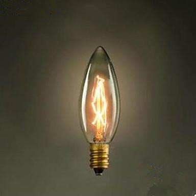 c35 brennen spitzen Blasen kleine gelbe Glühbirne e14 220 v Edison Screw retro Lichtquelle