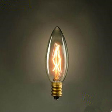 c35 brenne spiss boble liten gul lyspære e14 220 v edison skru retro lyskilde
