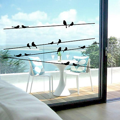 동물 콘템포라리 창문 스티커 자료 창 장식 주방 침실 사무실 키즈 룸 거실 배스 룸 숍 / 카페