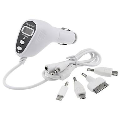 아이폰 5 5C 5S 4 4S 3GS 아이팟 터치에 대한 자동차 키트 FM 송신기 변조기 충전기