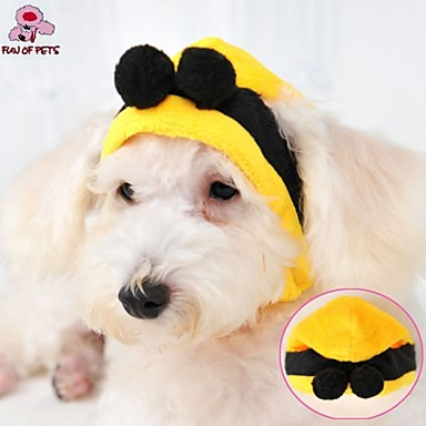 Γάτα Σκύλος Στολές Σύνολα Μπαντάνες & Καπέλα Ρούχα για σκύλους Στολές Ηρώων Γάμος Halloween Κίτρινο Στολές Για κατοικίδια