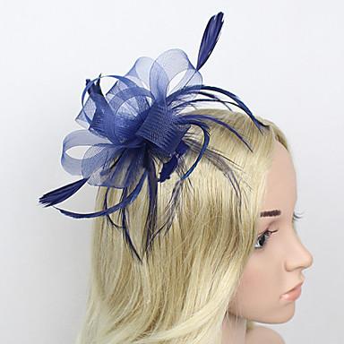 Peří / Síť Fascinátory / Doplňky do vlasů s Květiny 1ks Svatební / Zvláštní příležitosti Přílba