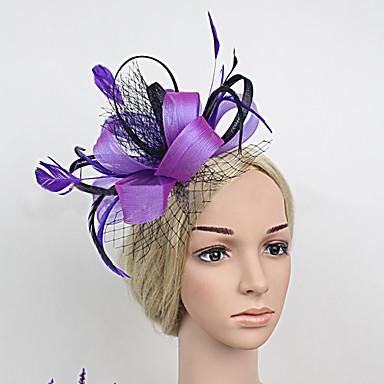 перьевые атласные чистые факсимиляторы головной убор классический женский стиль