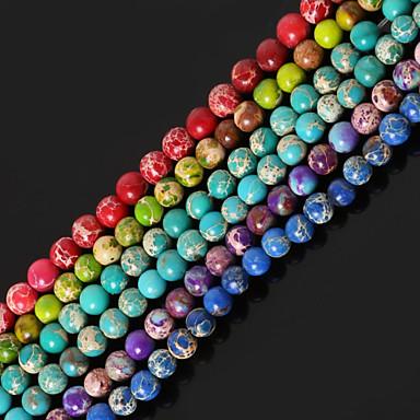 DIY Jewelry Stone Purple Red Green Blue Light Green Round Shape Bead DIY Necklace Bracelet