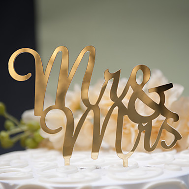 Tortenfiguren & Dekoration Klassisch Klassisches Paar Fester Kunststoff Hochzeit Jahrestag Brautparty mit 1 OPP