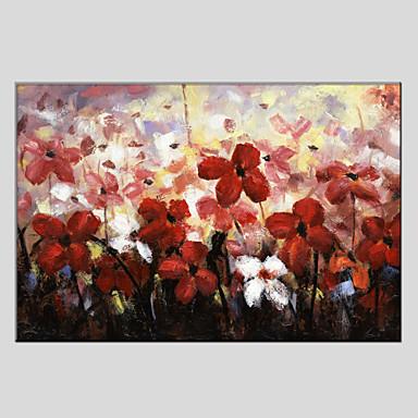 Hang malte oljemaleri Håndmalte - Blomstret / Botanisk Europeisk Stil Moderne Lerret