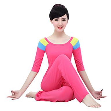 Yoga Ensemble de Vêtements Matériaux Légers Extensible Vêtements de sport Femme Yoga Pilates Exercice & Fitness Sport de détente