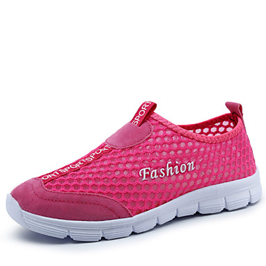 3 Color Women's Casual Sport Walking Shoes Tulle Blue / Green / Pink