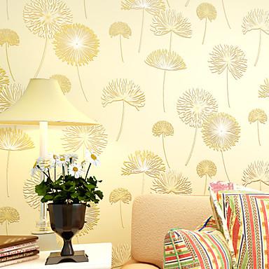 Цветочные Обои Современный Облицовка стен,Нетканая бумага Да