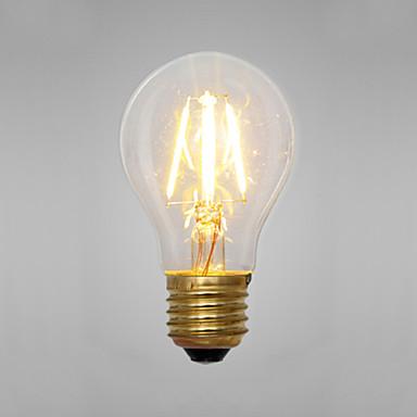 200 E14 E26/E27 Λάμπα Πυράκτωσης A60(A19) 2 LEDs COB Διακοσμητικό Κίτρινο 2300K AC 220-240V
