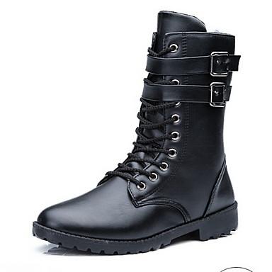 Saappaat Miesten kengät Tekonahka Musta Rento