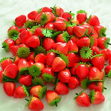6 db szimuláció eper gyümölcs műanyag gyümölcs művirág